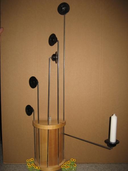 Klassische Weihnachtsbaumkerzenhalter einzeln -  65 cm
