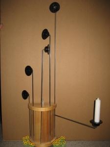 Klassische Weihnachtsbaumkerzenhalter einzeln -  45 cm